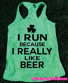 I Run Because I Really Like Beer. St by TheRunningPrincess on Etsy