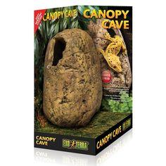 Cueva Elevada Canopy Cave EXOTERRA crea un hábitat de múltiples niveles. Los reptiles y anfibios arborícolas son a menudo reacios a utilizar cuevas a nivel del suelo para esconderse o anidar.