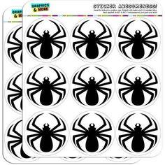 Spider Black Widow 18 2 inch Planner Calendar Scrapbooking Crafting Stickers, Clear