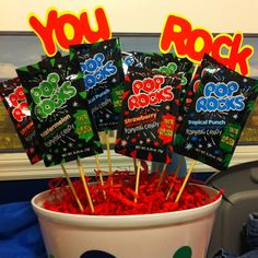 Teacher appreciation week! This would be cute to put with the popcorn display!
