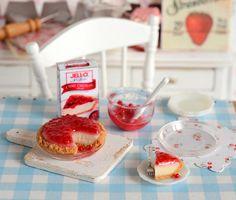 Miniature Making NoBake Cheesecake Set by CuteinMiniature on Etsy