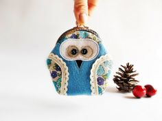 Coin purse / Owl coin purse/ Coin pouch / Jewelry by DooDesign, $20.90