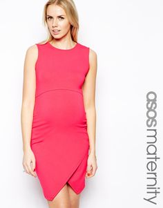 Bright Pink Maternity Dress from @ASOS.com