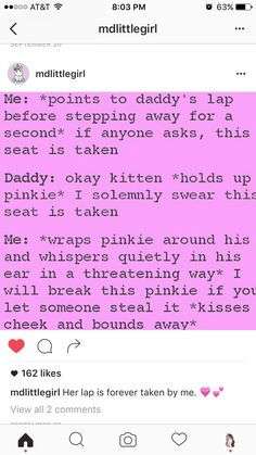 Yep, that's my seat 😊👌 Daddys Girl Quotes, Daddy's Little Girl Quotes, Little Things Quotes, Daddys Little Princess, Daddy Dom Little Girl, Kinky Quotes, Bae Quotes, Ddlg Quotes, Daddy Kitten