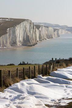 ~Seven Sisters coastline in Winter by Paul.  Sussex, UK~