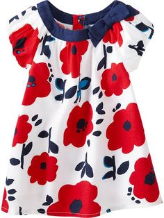 Old Navy | Floral-Print Bubble-Sleeve Dresses for Baby