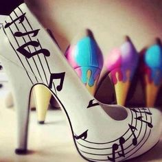 musical shoes #heels #PrimerasVecesbyCyzone I WILL HAVE THESE!!!!! scared to see how much