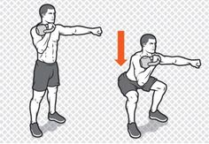 Single-Arm Front Squat http://www.menshealth.com/fitness/kettlebell-workout-abs/single-arm-front-squat