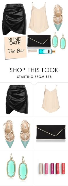 """""""Blind Date: The bar"""" by jessica-marks ❤ liked on Polyvore featuring Boohoo, Alice + Olivia, Valentino, L.K.Bennett, Post-It, Kendra Scott, Victoria's Secret, evening, polyvorecommunity and polyvorecontest"""