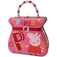 Peppa Pig Buckle Tin Purse with Beaded Handle