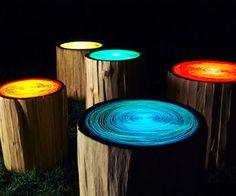 Tree Stump Lights   Straight Line Designs