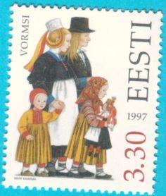 All* Estonian stamps: Folk costumes - Vormsi Island