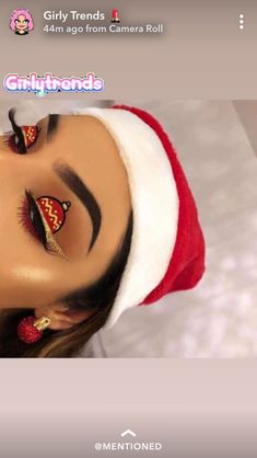 – Christmas Makeup – How can you learn tricks if you're just starting to make up? Makeup Eye Looks, Eye Makeup Art, Cute Makeup, Eyeshadow Looks, Makeup Inspo, Eyeshadow Makeup, Makeup Inspiration, Beauty Makeup, Eyeliner