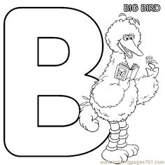 free printable coloring image sesame street coloring pages