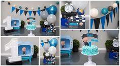Boy Birthday Pictures, First Birthday Photos, 1st Boy Birthday, Boy Birthday Parties, Baby Cake Smash, Boss Baby, Baby Party, Birthday Decorations, First Birthdays