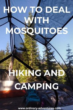 How to deal with mosquitoes hiking and camping including what kind of bug spray to buy what to wear and other ideas for minimizing bites! Camping With Kids, Camping Life, Camping Hacks, Backpacking Tips, Hiking Tips, Hiking Essentials, Adventure Activities, Mosquitoes, Hiking Backpack