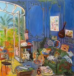 Picasso's studio Illustrated by Damian Elwes Pablo Picasso, Matisse Paintings, Picasso Paintings, Abstract Paintings, Oil Paintings, Landscape Paintings, Arte Popular, Painting Inspiration, Art Inspo