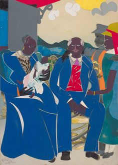 Romare Bearden, Family, 1986; to be used as an example of interdependence in the Family Unit lesson