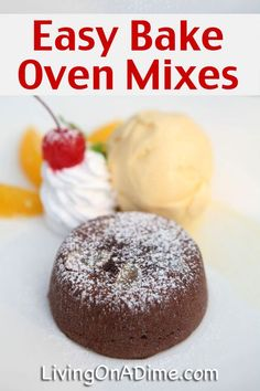 Try these homemade recipes for kids including easy snacks and fun things to do! Recipes Using Cake Mix, Recipe Using, Summer Snacks, Easy Snacks, Easy Meals For Kids, Kids Meals, Oven Recipes, Easy Recipes, Easy Bake Oven Mixes