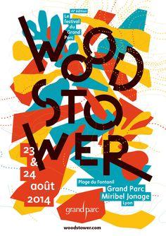 Woodstower - Lyon 2014 - affiche Julien Staniel