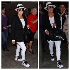 Kris Jenner Arrives at LAX wearing Nike Air Force 1 Riccardo Tisci Sneakers   UpscaleHype