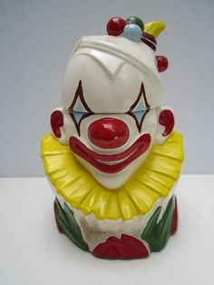 McCoy Clown Cookie Jar Vintage Cookie Jar by GOSHENPICKERS on Etsy