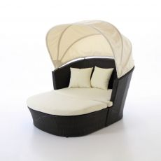 Serenity 2 Piece Circle Lounge with Canopy.  Perfect for a nap outside!