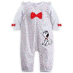 Disney 101 Dalmatians Romper and Bodysuit Set for Baby | Disney Store101 Dalmatians Romper and Bodysuit Set for Baby - A fuzzy Dalmatian friend makes our colorful woven romper with ruffled collar and coordinating cotton bodysuit an extra sweet ensemble for your little pup.