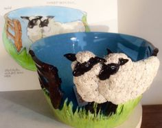 Sheep Yarn Bowl from etsy, EarthWoolFire