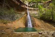 Pain de Sucre waterfall on Vézéronce river. France, Ain department near Surjoux village.