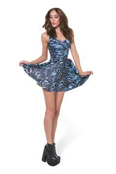Bubbles Scoop Skater Dress - LIMITED – Black Milk Clothing