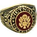 U.S. Army Vietnam Veteran 18k Gold Plated Engraved Ring