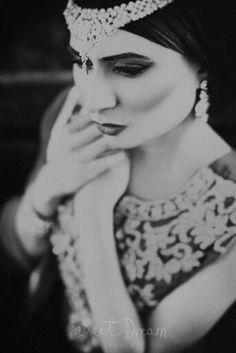 Sensual black and white portrait