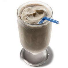Dark 'n' Stormy Milk Shake Recipe Beverages, Cocktails with vanilla ice cream, lime zest, ginger juice, lime juice, dark rum, twists