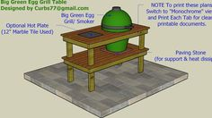 Big Green Egg Smoker Table Plans - 3D Warehouse