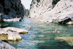 Swimming at Gorges de Gouleyrous | by Chi Bellami
