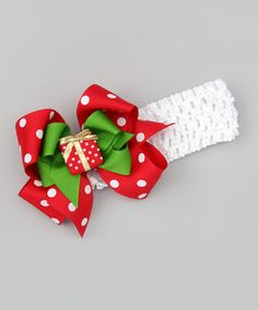 Take a look at this White Mini Present Headband by Picture Perfect Hair Bows on #zulily today!