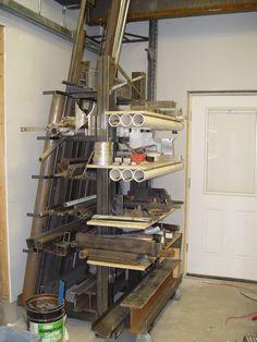 Versatile material rack