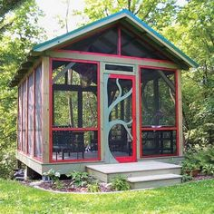 This screen house is just what I have been envisioning for our front yard. We need a mosquito-free place to hang out.