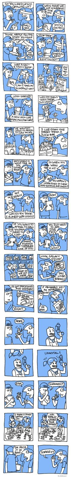LEGO needs to see this comic. Immediately. Feminism gender equality for children