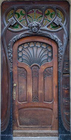 Art Nouveau door, Strasbourg, France More
