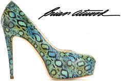 Brian Atwood Maniac snakeskin pump | 5″ heel & 1″ platform |available at MyTheresa for $705