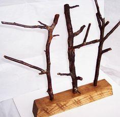 Jewelry Tree reclaimed wood holder organizer.