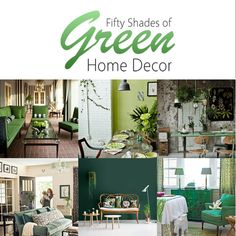50 Shades of Green Home Decor