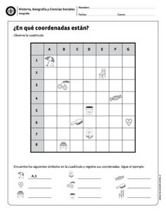 ¿En qué coordenada están? Fun Activities For Kids, Worksheets For Kids, Tools For Teaching, Teaching Resources, After School Child Care, Geography For Kids, Preschool Writing, Coding For Kids, Primary Maths