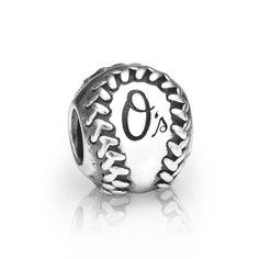 Baltimore Orioles Pandora Baseball Charm, $75.00 http://shareasale.com/m-pr.cfm?merchantid=62865&userid=646297&productid=637743040&afftrack=
