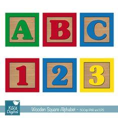 baby blocks alphabet font clip art clipart commercial and personal rh pinterest com Alphabet Blocks Font abc blocks clipart black and white