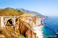BIXBY BRIDGE BIG SUR PACIFIC COAST HIGHWAY ONE CALIFORNIA COLOR