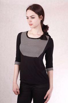 T-Shirts uni Rundhals -  NARA ® s Shirt  /  Blusen Shirt Gr 34/XS-52/XXL - ein Designerstück von Berlinerfashion bei DaWanda