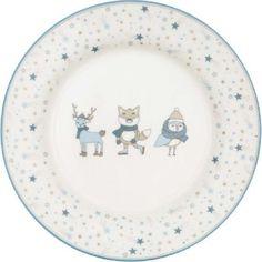 Kinderteller - Kids plate - Forrest pale blue von Greengate Kids Plates, Decorative Plates, Tableware, Blue, Kawaii, Meal, Essen, Kids, Dinnerware